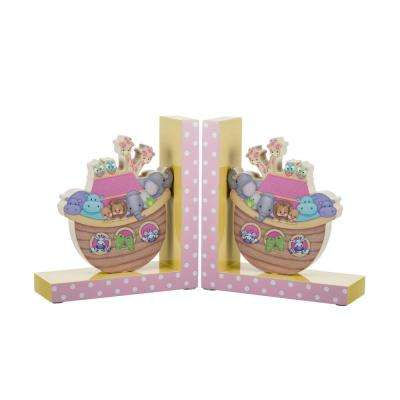 Noah's Pastel Pairs Boat Bookends