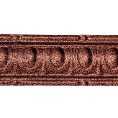 48 in. Huron Tin Crown Molding in Penny Vein