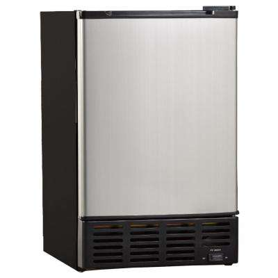 12 lb. Freestanding Ice Maker in Black with Stainless Steel Door