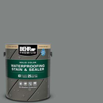 1 gal. #6795 Slate Gray Solid Color Waterproofing Exterior Wood Stain and Sealer