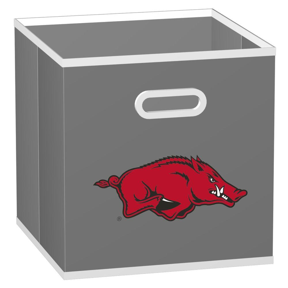 MyOwnersBox College Storeits University of Arkansas 10-1/2 in. x 11 in. Grey Fabric Storage Drawer