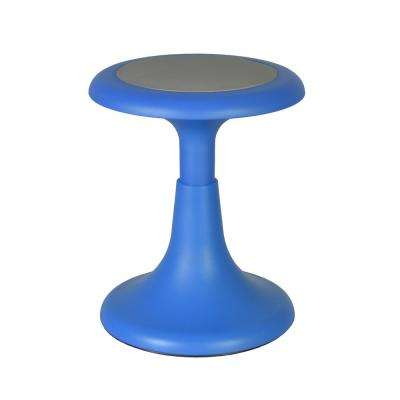 Glow 17 in. Blue Wobble Stool