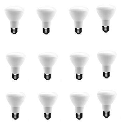 50-Watt Equivalent BR20 Dimmable LED Light Bulb Soft White (12-Pack)