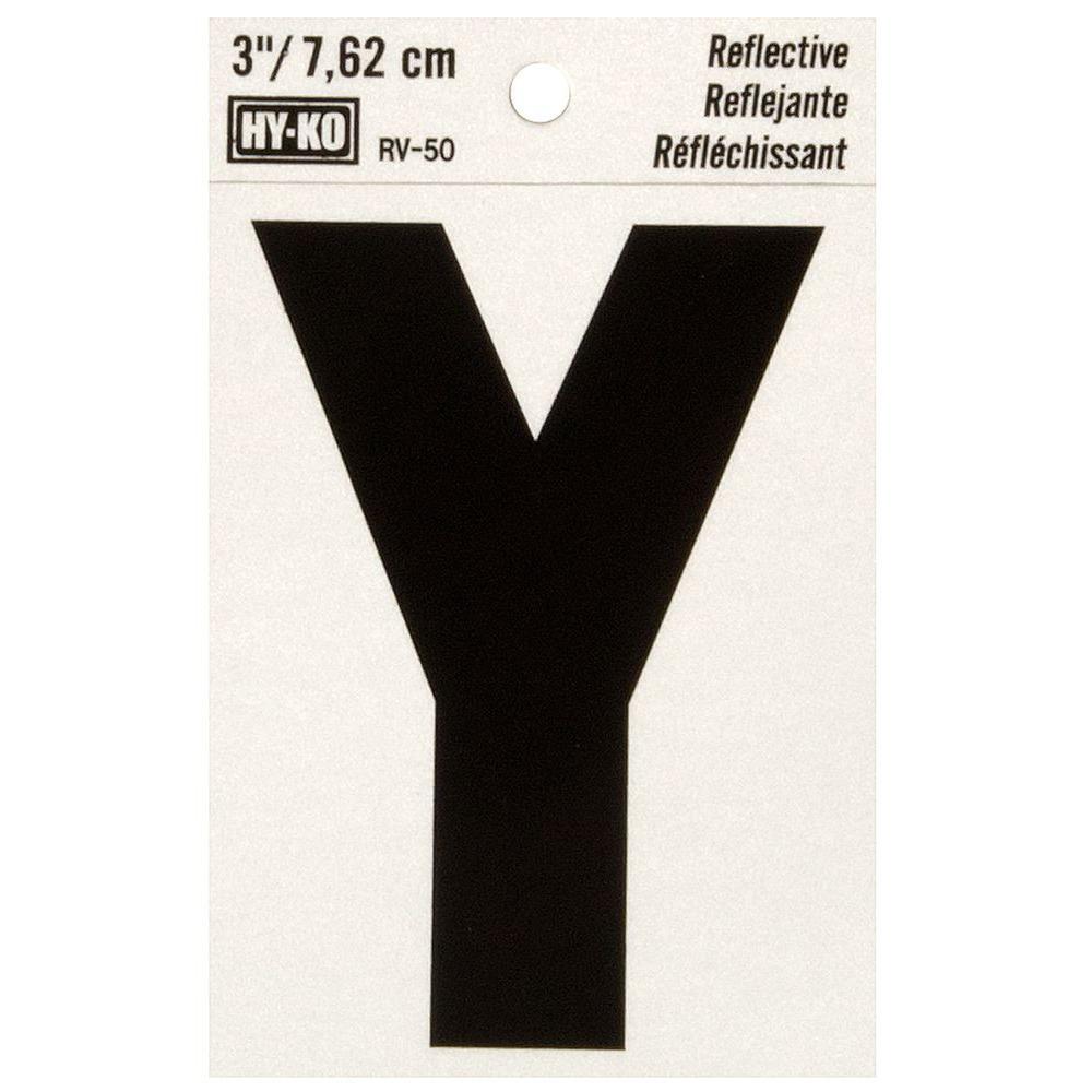 Vinyl self adhesive letter y