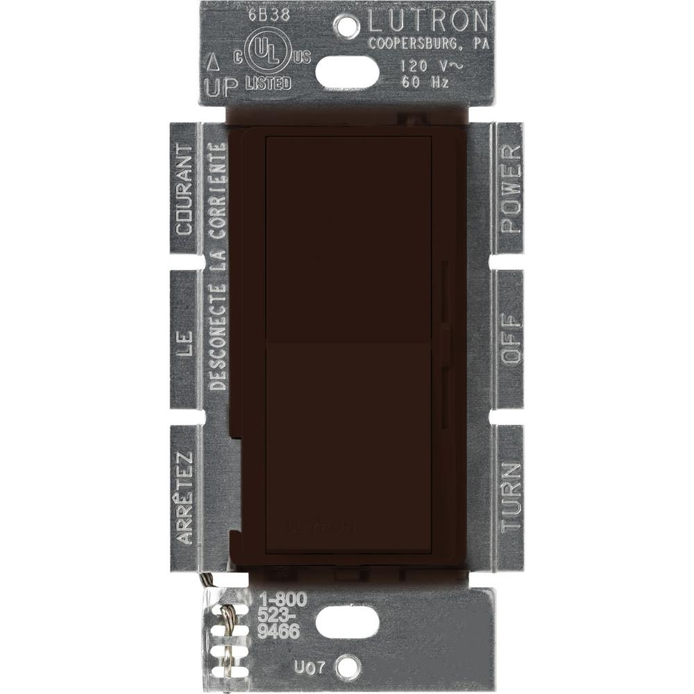 Lutron Diva 450-Watt Single-Pole Magnetic Low-Voltage Dimmer, Brown