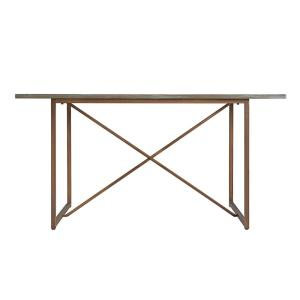 Southern Enterprises Franca Burnt Oak Dining Table Hd530468