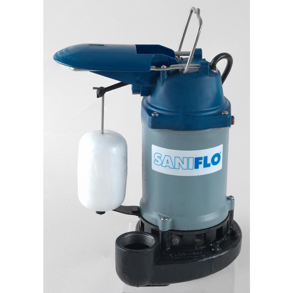 Saniflo SaniPump 1/3 HP Submersible Sump Pump-045