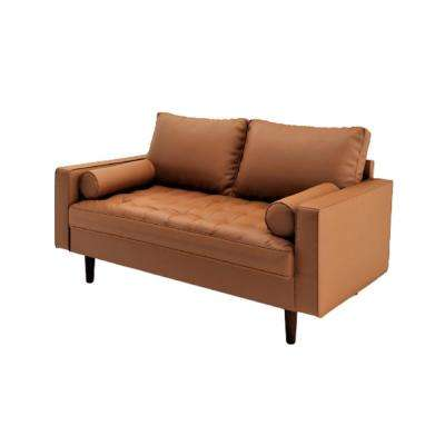 Lincoln Brown Tufted Seat Loveseat