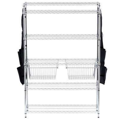 Chrome Pull-Out Basket (Set of 2)