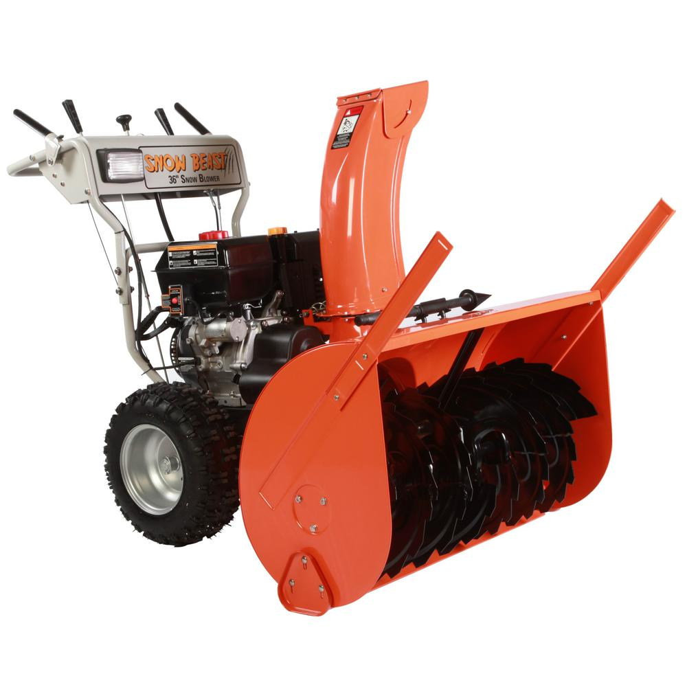 Snow Beast 36 in. Commercial 420 cc Electric Start 2-Stage Gas Snow Blower with Headlights, Bonus Drift Cutters and Clean-Out Tool was $1950.0 now $1299.0 (33.0% off)