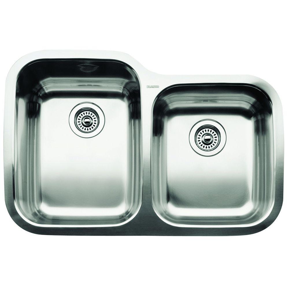 Supreme Undermount Stainless Steel 31 in. 1-3/4 Bowl Kitchen Sink
