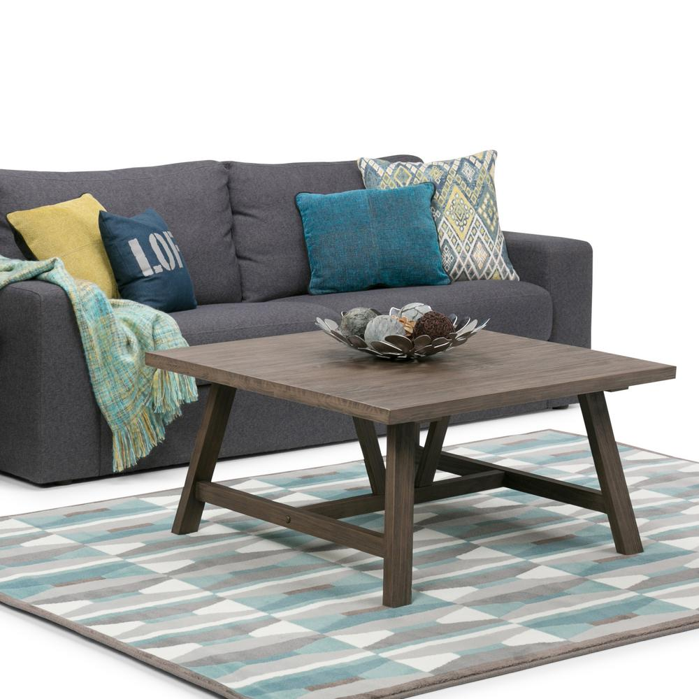 Simpli Home Dylan Driftwood Coffee Table-3AXCDLN-02 - The Home Depot for Driftwood Outdoor Furniture  173lyp