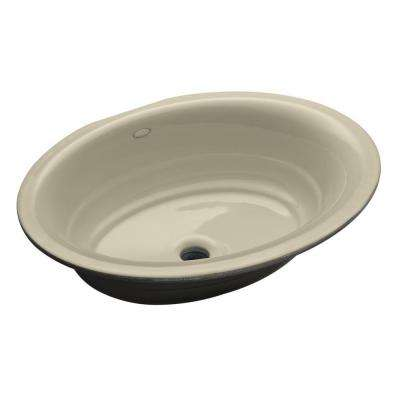 Garamond Undermount Cast Iron Bathroom Sink in Almond