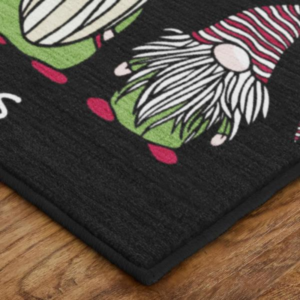 Mohawk Home Christmas Gnomes Black 2 Ft 6 In X 4 Ft 2 In Area Rug 079275 The Home Depot