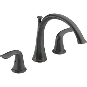 Lahara 2-Handle Deck-Mount Roman Tub Faucet Trim Kit Only in Venetian Bronze (Valve Not Included)