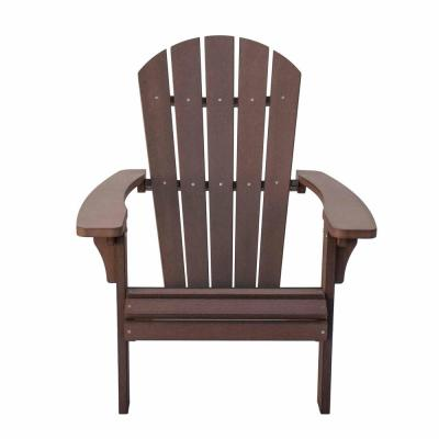 Royal Palm Chateau Brown Plastic Adirondack Chair