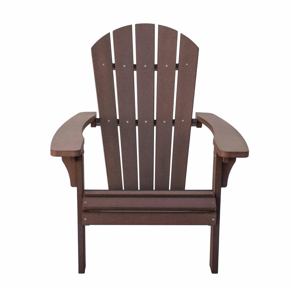 Royal Palm Chateau Brown Plastic Adirondack Chair
