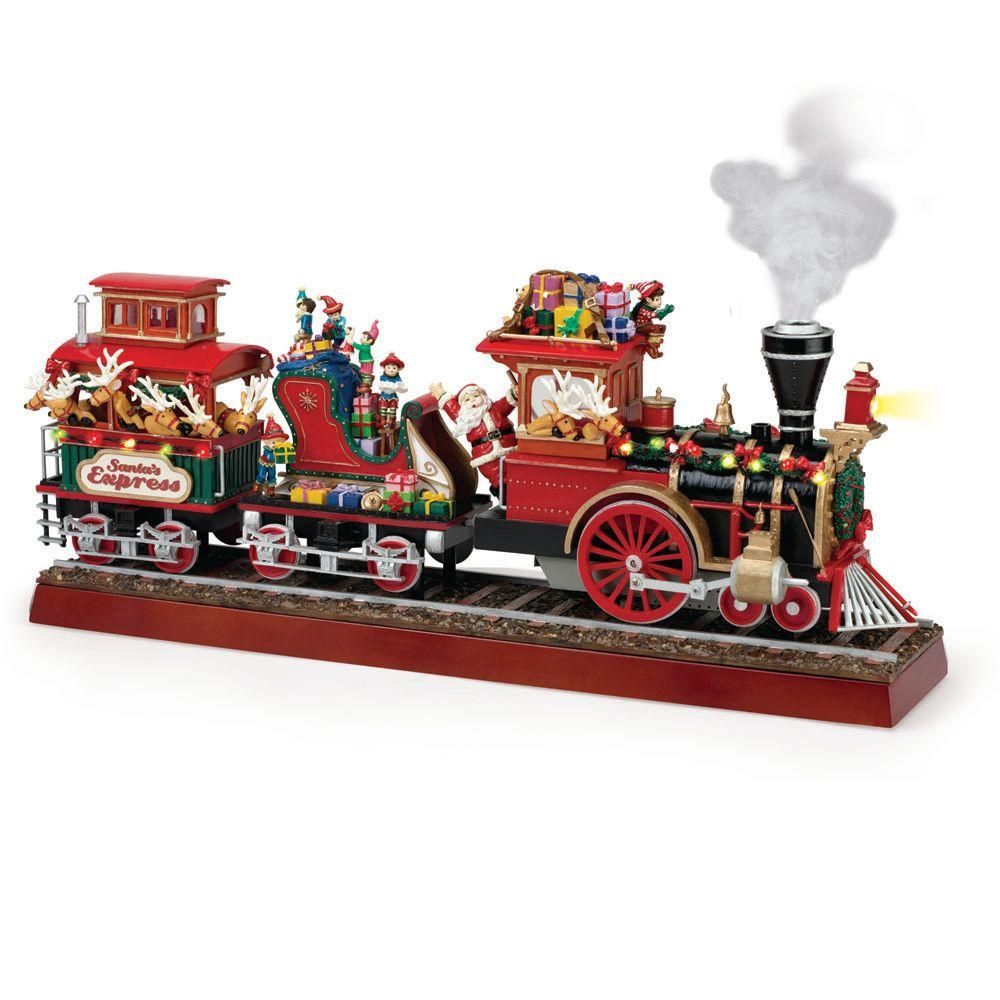 Details about 16.38 In. Santa's Express Train Animated Christmas Holiday Decoration Indoor New