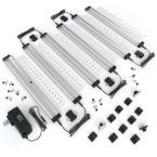 12 in. LED 3000K Black Under Cabinet Lighting, Dimmable Hand Wave Activated (6-Pack)