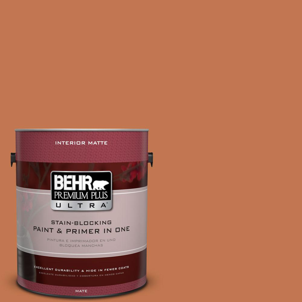 BEHR Premium Plus Ultra 1 gal. #240D-6 Chivalry Copper Flat/Matte Interior Paint