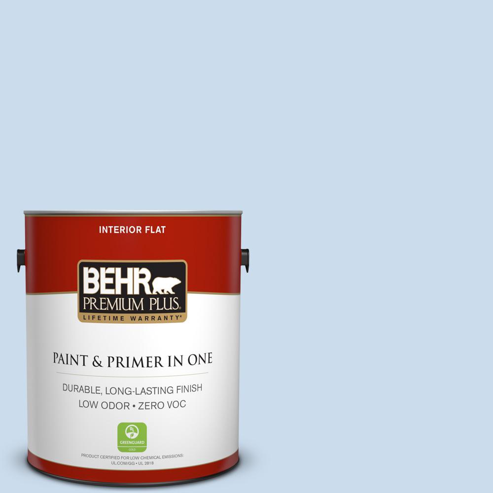 BEHR Premium Plus 1-gal. #560C-2 Caribbean Mist Zero VOC Flat Interior Paint