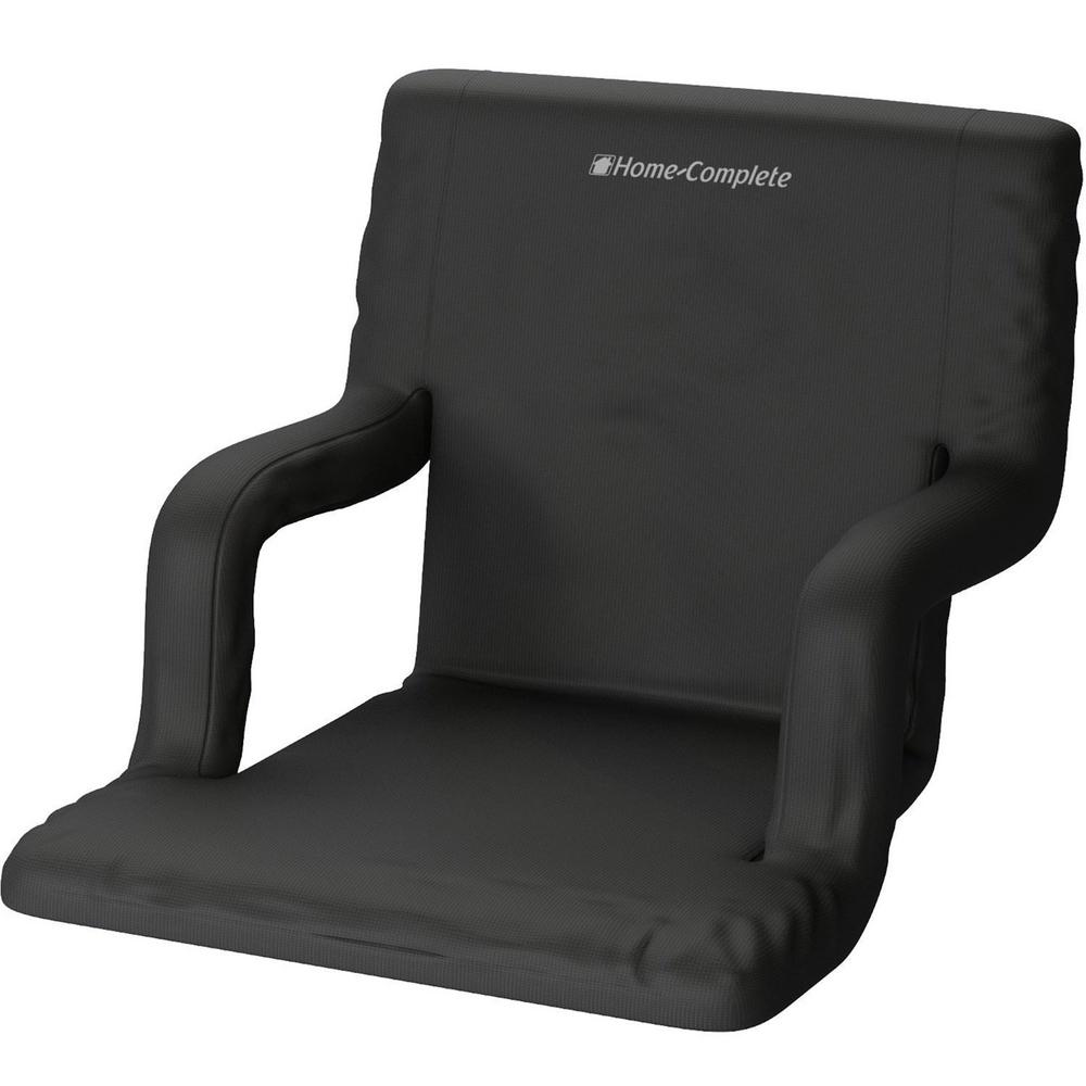 Attirant Home Complete Black Wide Stadium Seat Chair