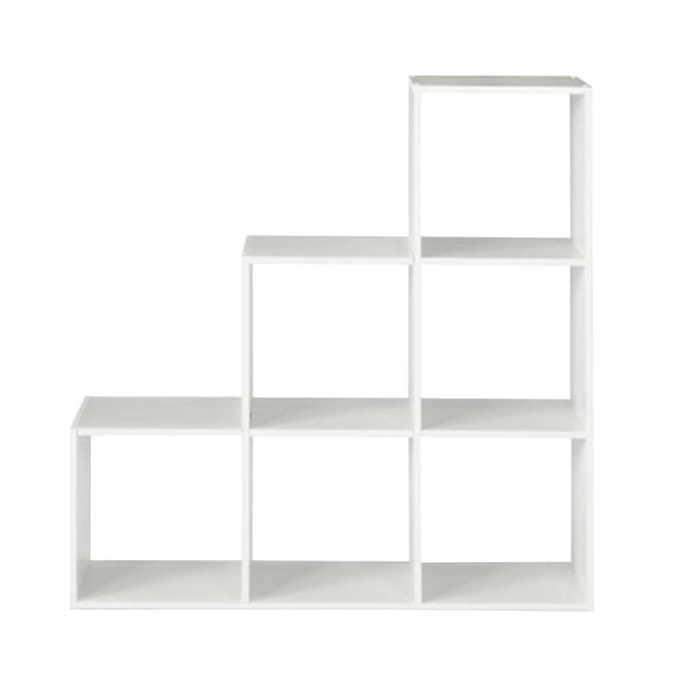closetmaid 36 in w x 36 in h white 3 2 1 cube organizer 12254 rh homedepot com cube shelves with bins cube shelves with chairs built to fit in