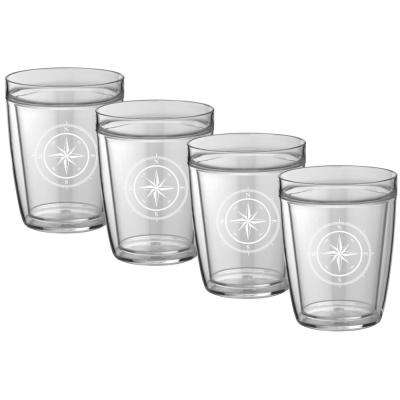 Kasualware Compass Point 14 oz. Doublewall Short Tumbler (Set of 4)