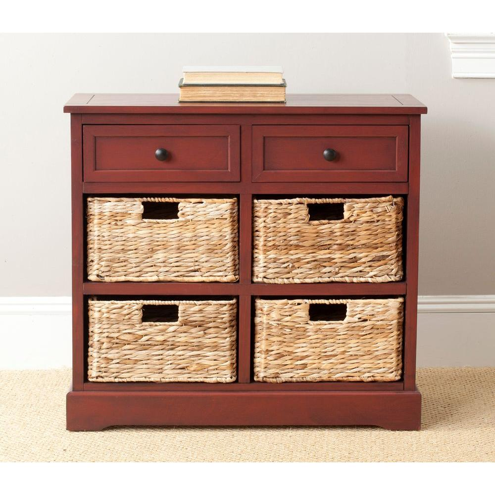 safavieh herman red chest-amh5702e - the home depot