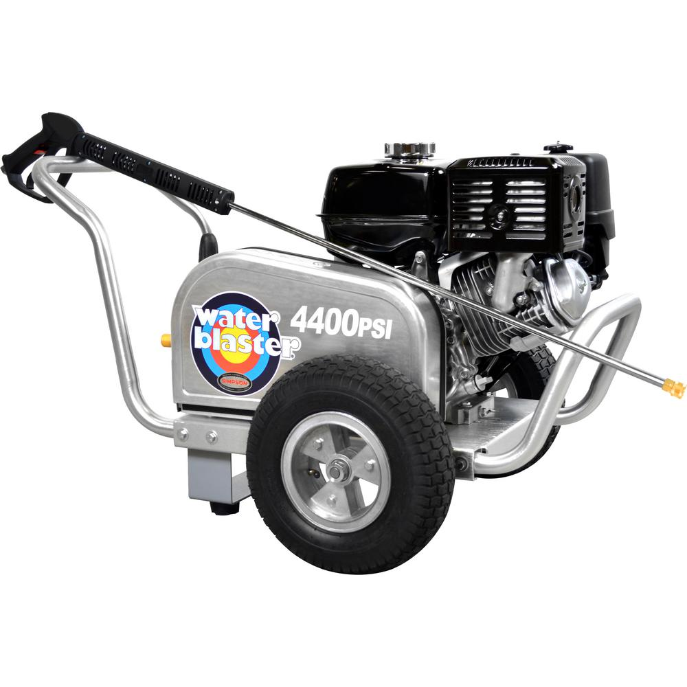 Simpson SIMPSON Aluminum Water Blaster ALWB60825 4400 PSI at 4.0 GPM SIMPSON 420 Belt Drive Cold Water Pressure Washer