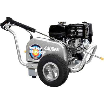 Aluminum Water Blaster 4400PSI at 4.0GPM 420 with AAA Triplex Plunger Pump Cold Water Pro Belt Drive Gas Pressure Washer