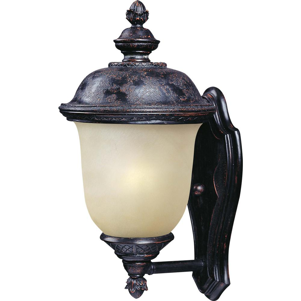 W 1 Light Oriental Bronze Outdoor Wall Mount Sconce