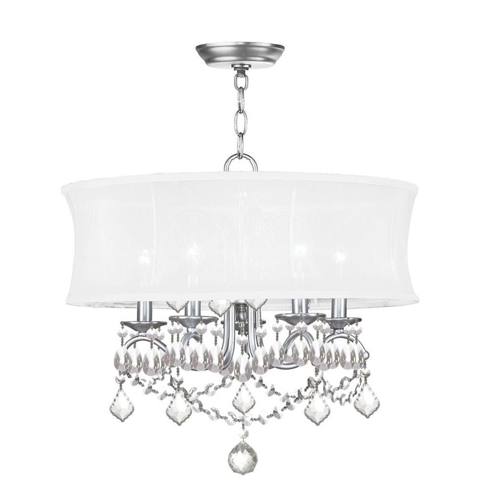 Providence 5-Light Brushed Nickel Incandescent Ceiling Chandelier
