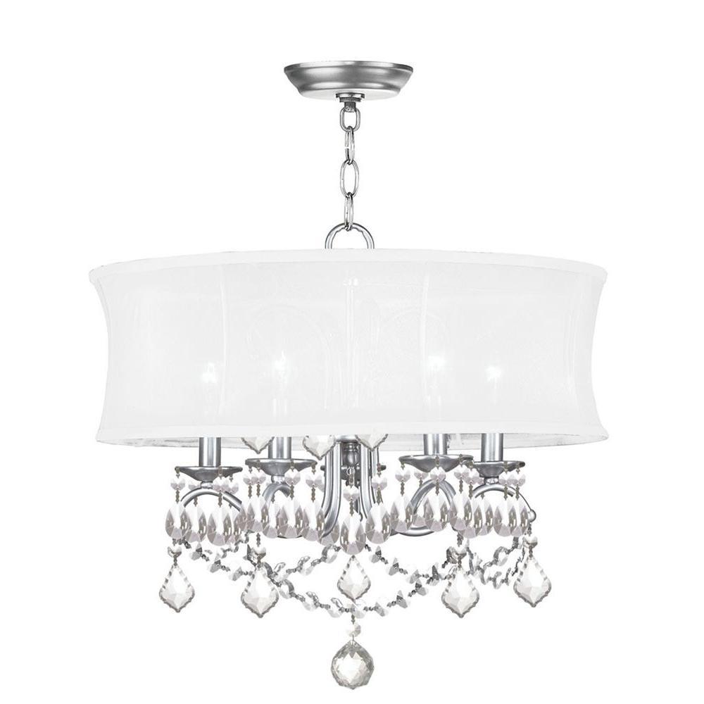 Providence 5-Light Brushed Nickel Incandescent Ceiling Chandelier