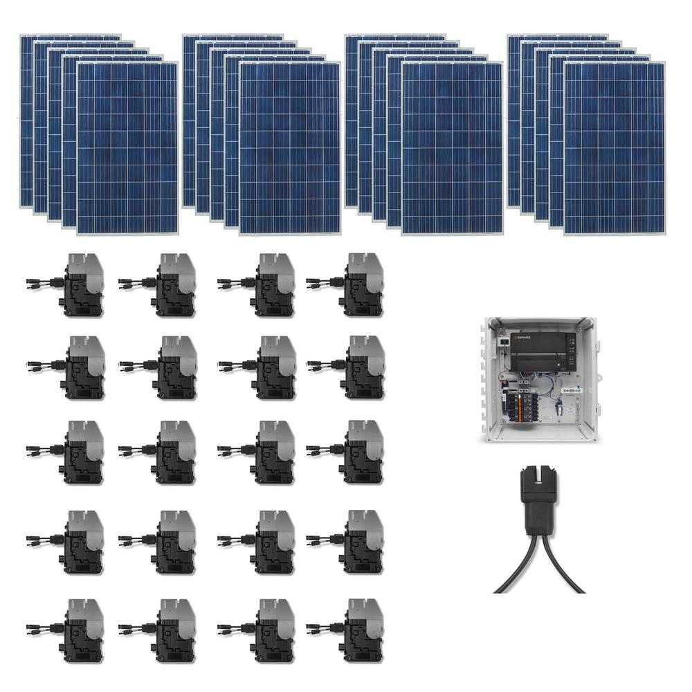 Grape Solar 5,300-Watt Expandable Poly-Crystalline PV Grid-Tied Solar Power Kit