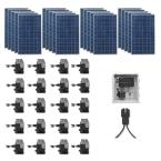 5,300-Watt Expandable Poly-Crystalline PV Grid-Tied Solar Power Kit