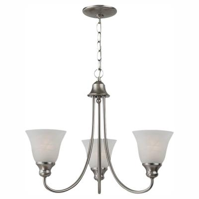 Windgate 3-Light Brushed Nickel 1-Tier Chandelier