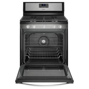 10 whirlpool 58 cu ft gas range with convection oven in stainless