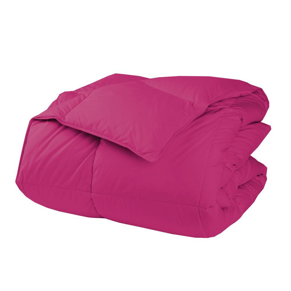 LaCrosse LoftAIRE Medium Warmth Hot Pink Twin Down Alternative Comforter