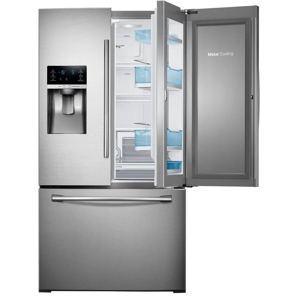 Samsung 278 cu ft food showcase french door refrigerator in food showcase french door refrigerator in white rf28hdedpww the home depot rubansaba