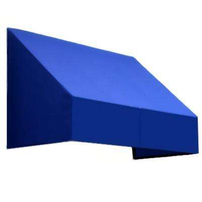8.38 ft. Wide New Yorker Window/Entry Awning (24 in. H x 48 in. D) Bright Blue