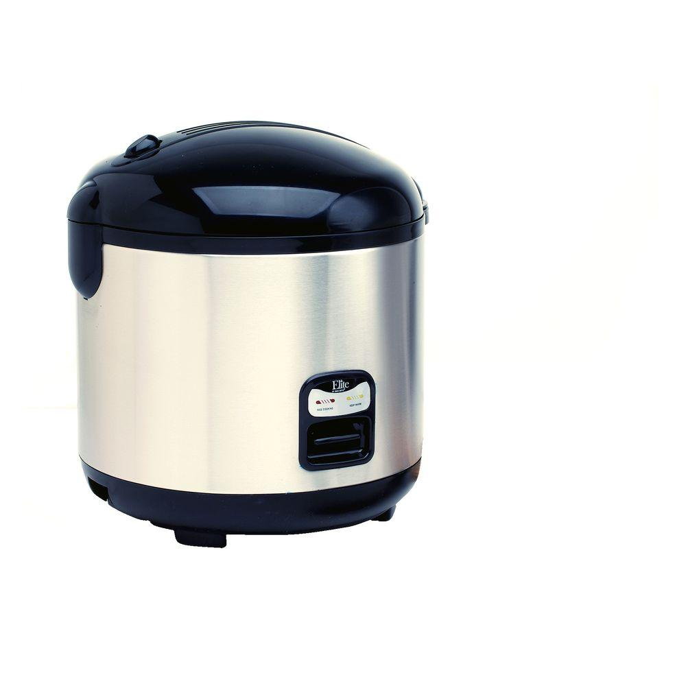 Elite 10-Cup Rice Cooker in Stainless Steel