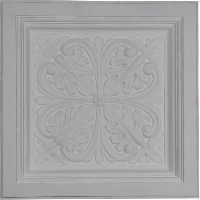 Cornelia 2 ft. x 2 ft. Glue Up or Nail Up Polyurethane Ceiling Tile in White