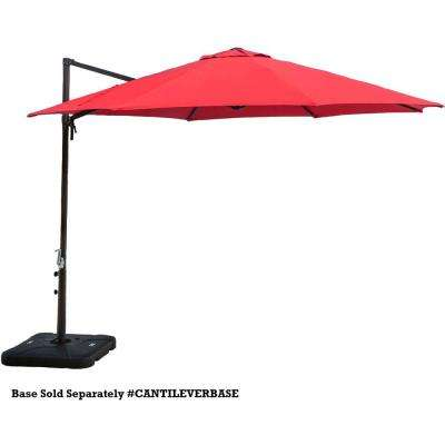 Cantilever 11 ft.Patio Umbrella in Red