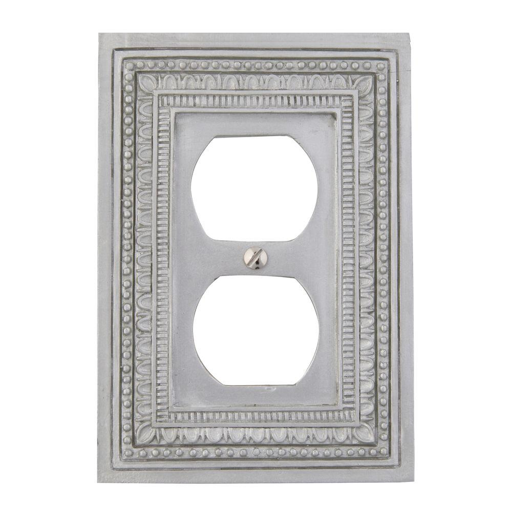 Amerelle Filigree Border 1 Duplex Wall Plate Tin 8330dft