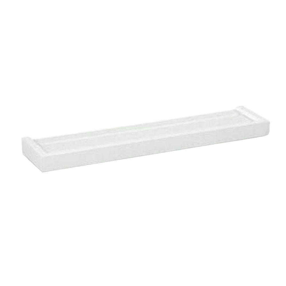 Home Decorators Collection 48 in. x 5.25 in. White Euro Floating Wall Shelf