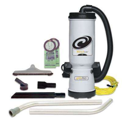 MegaVac 10 qt. Backpack Vac with Blower Tool and Hard Surface Horse Hair Brush Tool Kit