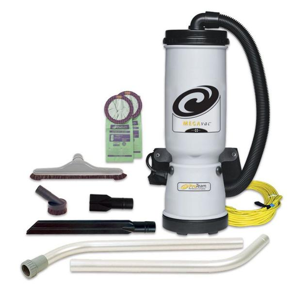 MegaVac 10 Qt. Commercial Backpack Vac with Blower Tool and Hard Surface Horse Hair Brush Tool Kit