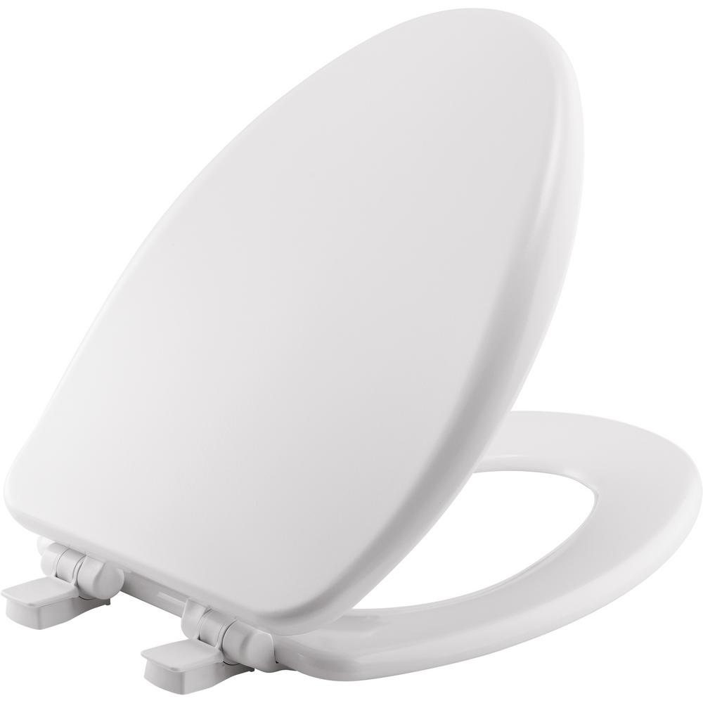 bemis toilet seat with child seat. BEMIS Elongated Closed Front Toilet Seat In Cotton White 19170PLSL