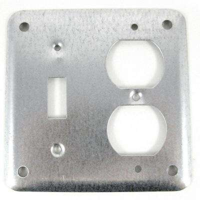 4 in. Metallic Square Box Cover for Toggle/Duplex Receptacle (Case of 25)